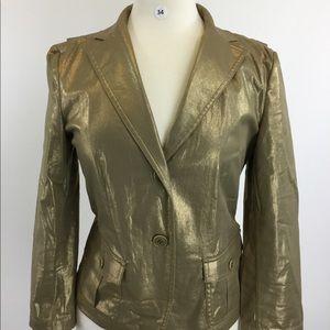 DKNY gold blazer {B-34}